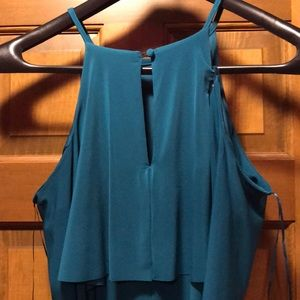 R & M Richards Dresses - Teal cold shoulder fitted body con dress NWT sz 16